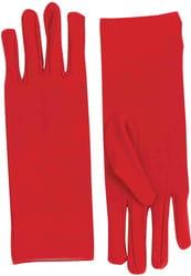 Фото Короткие красные перчатки