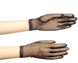 Фото Перчатки сетка черные взрослые