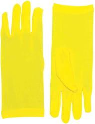 Фото Короткие желтые перчатки взрослые