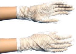 Фото Короткие белые перчатки взрослые