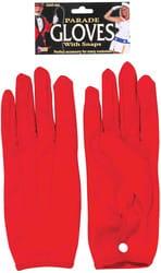 Фото Перчатки красные короткие взрослые