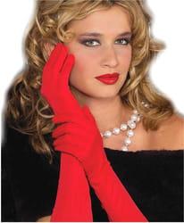 Фото Красные перчатки с отделкой