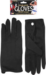 Фото Перчатки черные короткие взрослые