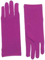 Фото Короткие лиловые перчатки взрослые