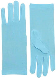 Фото Короткие голубые перчатки взрослые