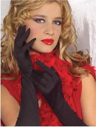 Фото Черные перчатки с отделкой