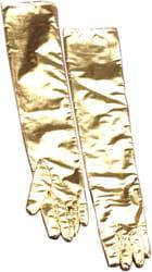 Фото Длинные золотые перчатки