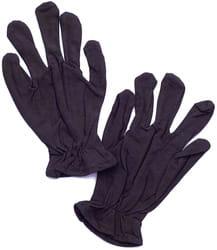 Фото Черные перчатки короткие взрослые