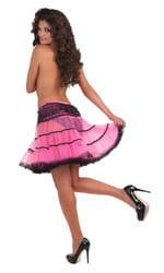 Фото Подъюбник неоновый черно-розовый взрослый