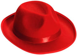 Фото Гангстерская шляпа красная взрослая