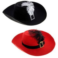 Шляпа мушкетера с пером взрослая