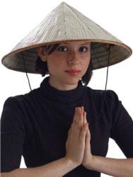 Фото Шляпа китайского крестьянина взрослая