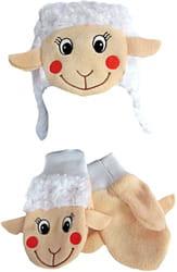 Фото Набор Овечка (шапка и варежки) детский
