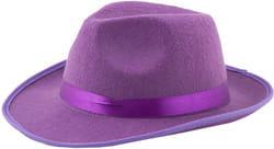 Фото Гангстерская шляпа фиолетовая взрослая