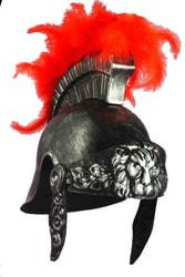 Фото Шлем римского воина с красными перьями