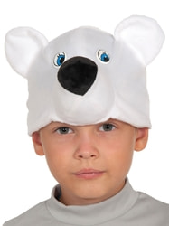 Фото Шапочка Мишка полярный детская