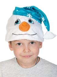 Фото Шапочка Снеговичок детская