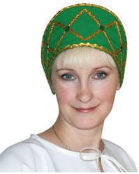 Фото Кокошник Дарья зелёный