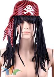 Фото Бандана пирата с париком-дредами