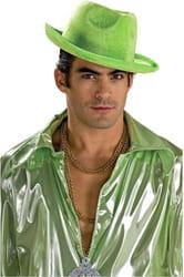 Фото Гангстерская шляпа зеленая взрослая
