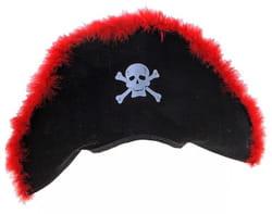 Фото Пиратская шляпа (красный пух) взрослая