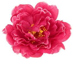Фото Заколка Пион темно-розовая