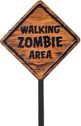 Фото Табличка Зона для прогулки зомби