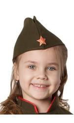 Фото Пилотка детская с красной звездочкой