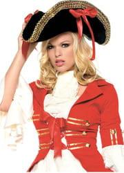 Фото Шляпа симпатичной пиратки взрослая