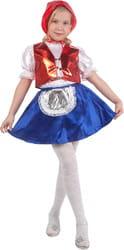 Фото Костюм Красная шапочка (с голубым жилетом) детский