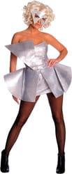 Фото Костюм Леди Гага (серебристое платье) взрослый