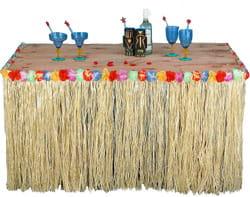 Фото Гавайское украшение для стола с бахромой