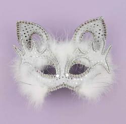 Фото Маска кошки-мышки белая