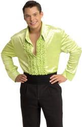 Фото Костюм Рубашка в стиле Диско (салатовая) взрослый