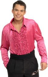 Фото Костюм Бархатная рубашка в стиле Диско (розовая) взрослый