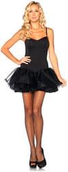 Фото Нижнее платье с корсетом (черное) взрослое