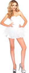 Фото Нижнее платье с корсетом (белое) взрослое
