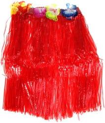 Фото Юбка гавайская красная (40 см) взрослый