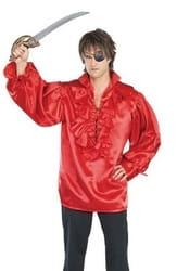 Фото Пиратская рубашка красная детская