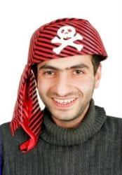 Фото Бандана пиратская полосатая