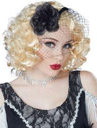 Фото Парик Чикаго блонд с вуалью женский