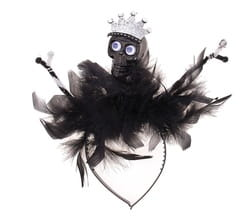 Фото Ободок Череп в короне с перьями