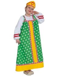 Фото Костюм Аленушка в зеленом детский