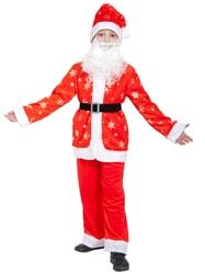 Фото Костюм Санта Клаус плюш детский