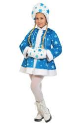 Фото Костюм Снегурочка бирюзовая плюш детский