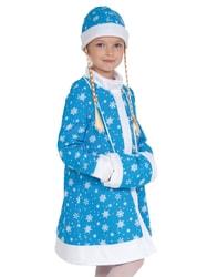 Фото Костюм Снегурочка плюш бирюзовый детский
