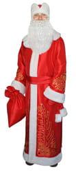 Фото Костюм Деда Мороза боярский красный взрослый