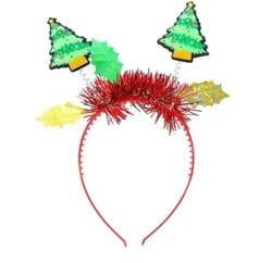 Фото Ободок новогодний с елочками