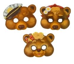Набор масок Три медведя, 3 шт