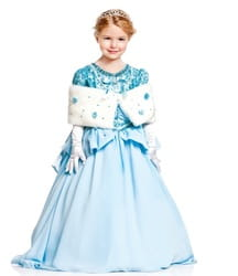 Фото Костюм Золушка в голубом платье детский